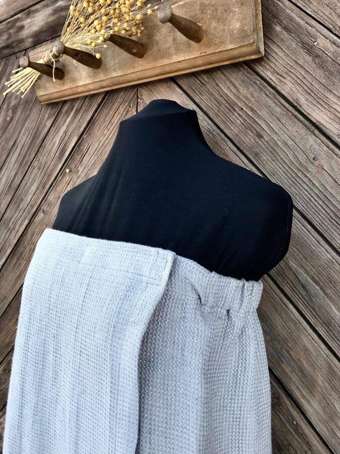 Pirts kleita ar gumiju+aizdare-pelēka krāsa