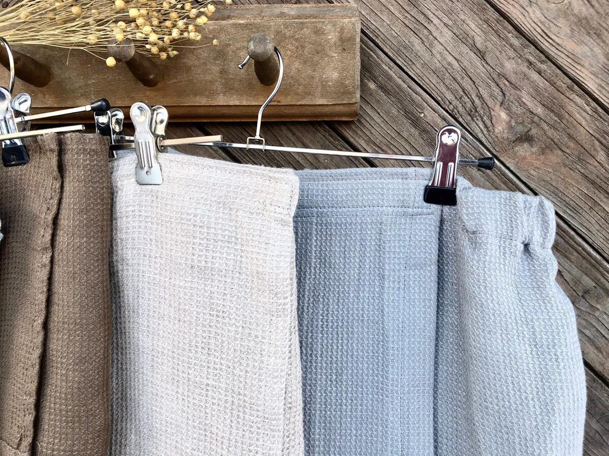 Vīriešu pirts dvielis(svārki)aizdare+gumija pelēka krāsa