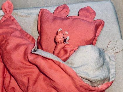 Koraļ-rozā komplekts mazulim