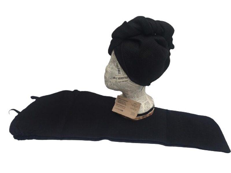 Lina matu turbāna melna