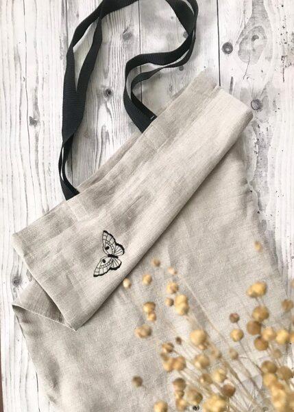 Lina iepirkumu soma maiss ar gariem rokturiem